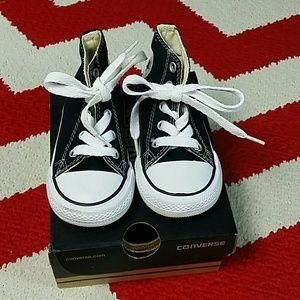 Infants Converse High Tops Black Size 5